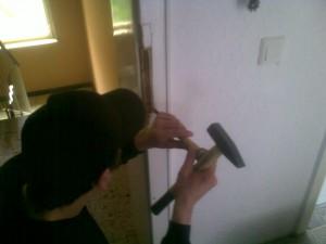 Reparatur nach einem Einbruch